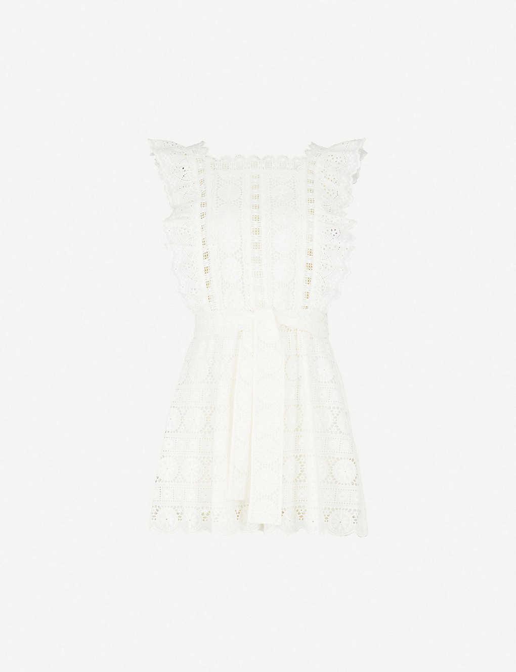 0955f6d518 ZIMMERMANN - Kali Daisy broderie anglaise cotton playsuit ...