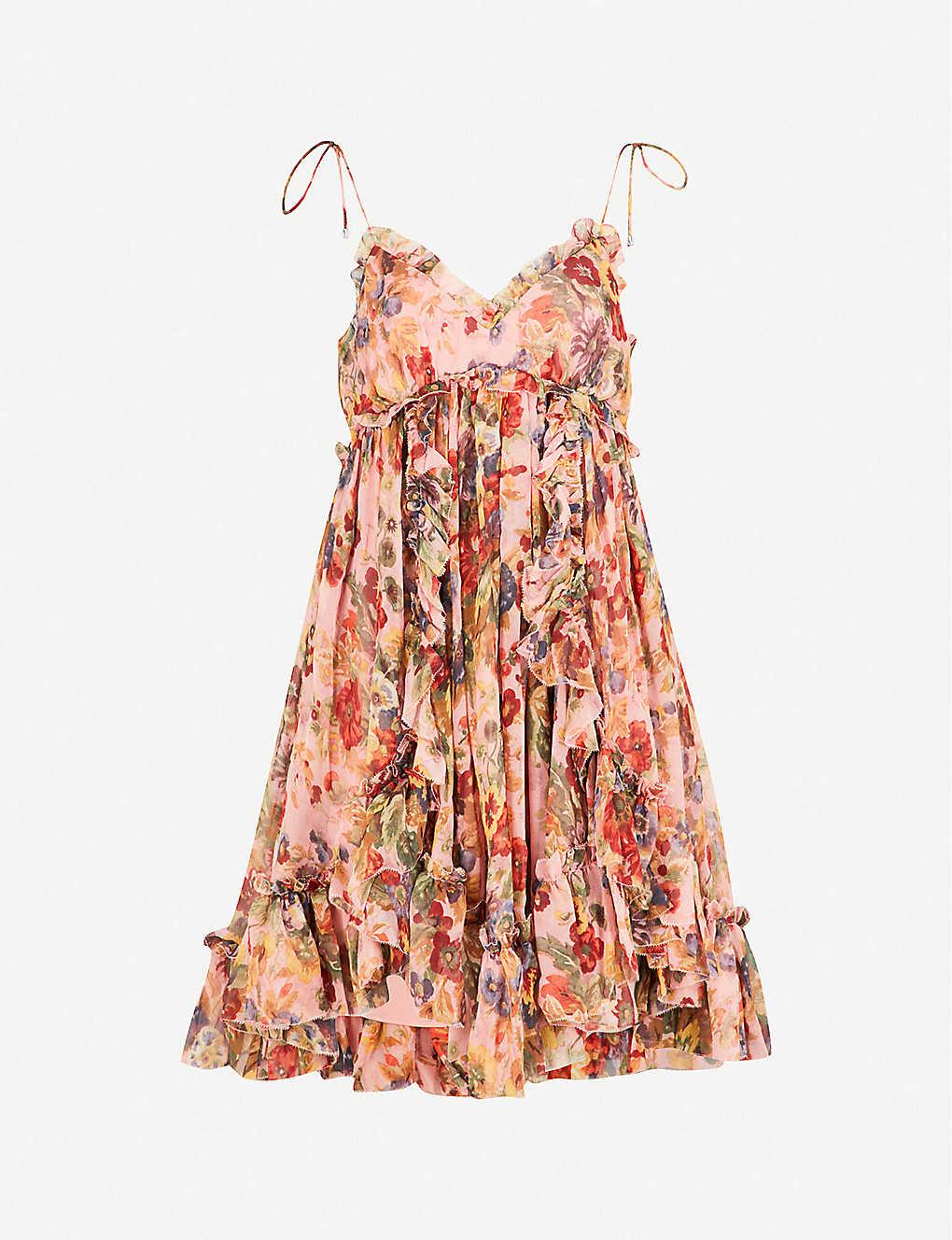 2db2de6d9bfd ZIMMERMANN - Lovelorn Frill silk-georgette mini dress | Selfridges.com