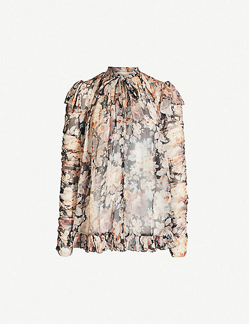 dce47cb42cb0a9 ZIMMERMANN - Tempest Frolic floral-print silk-chiffon blouse ...