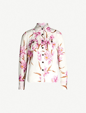 ZIMMERMANN Corsage floral-print cotton shirt