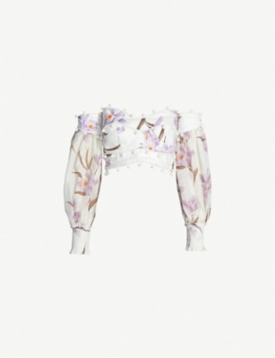 ZIMMERMANN Corsage linen top