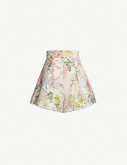 ZIMMERMANN Heathers cotton shorts
