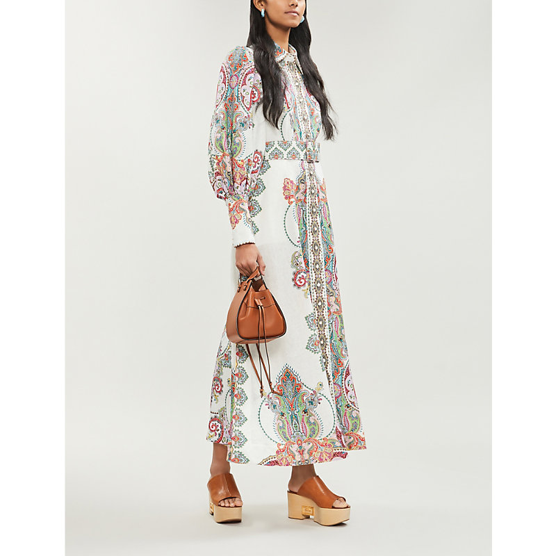Zimmermann Dresses PAISLEY-PRINT LINEN DRESS