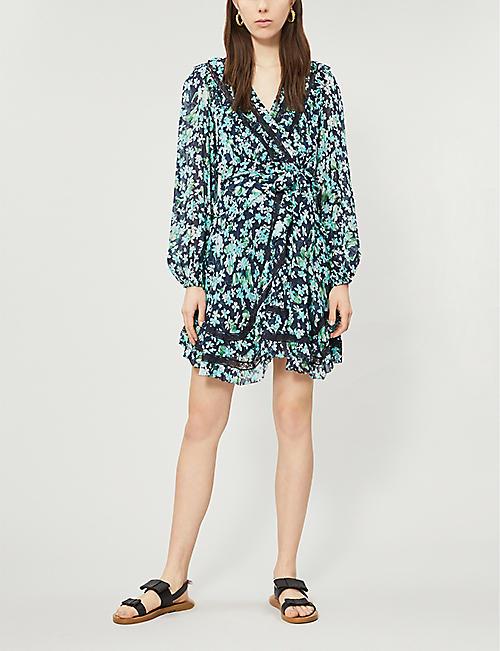4915dac28d ZIMMERMANN Moncur floral-print silk wrap dress