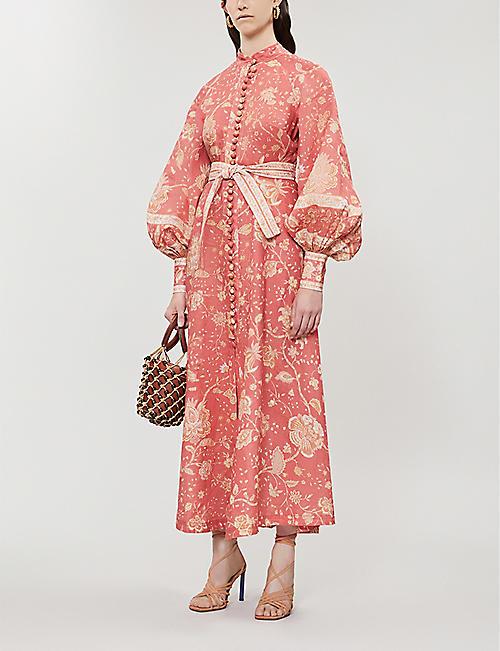 52318d70073 ZIMMERMANN Veneto floral-print linen dress
