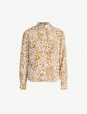 ZIMMERMANN Printed silk-crepe shirt