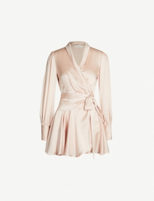 ZIMMERMANN Wrap-front silk-satin dress