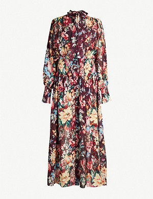 ZIMMERMANN Allia floral-print cotton and silk-blend midi dress