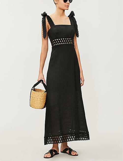 d9cdd4055fcd4 ZIMMERMANN Verity square-neck strappy linen dress. NEW SEASON