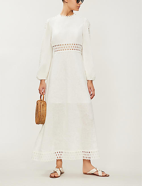 ZIMMERMANN Verity long-sleeved linen maxi dress
