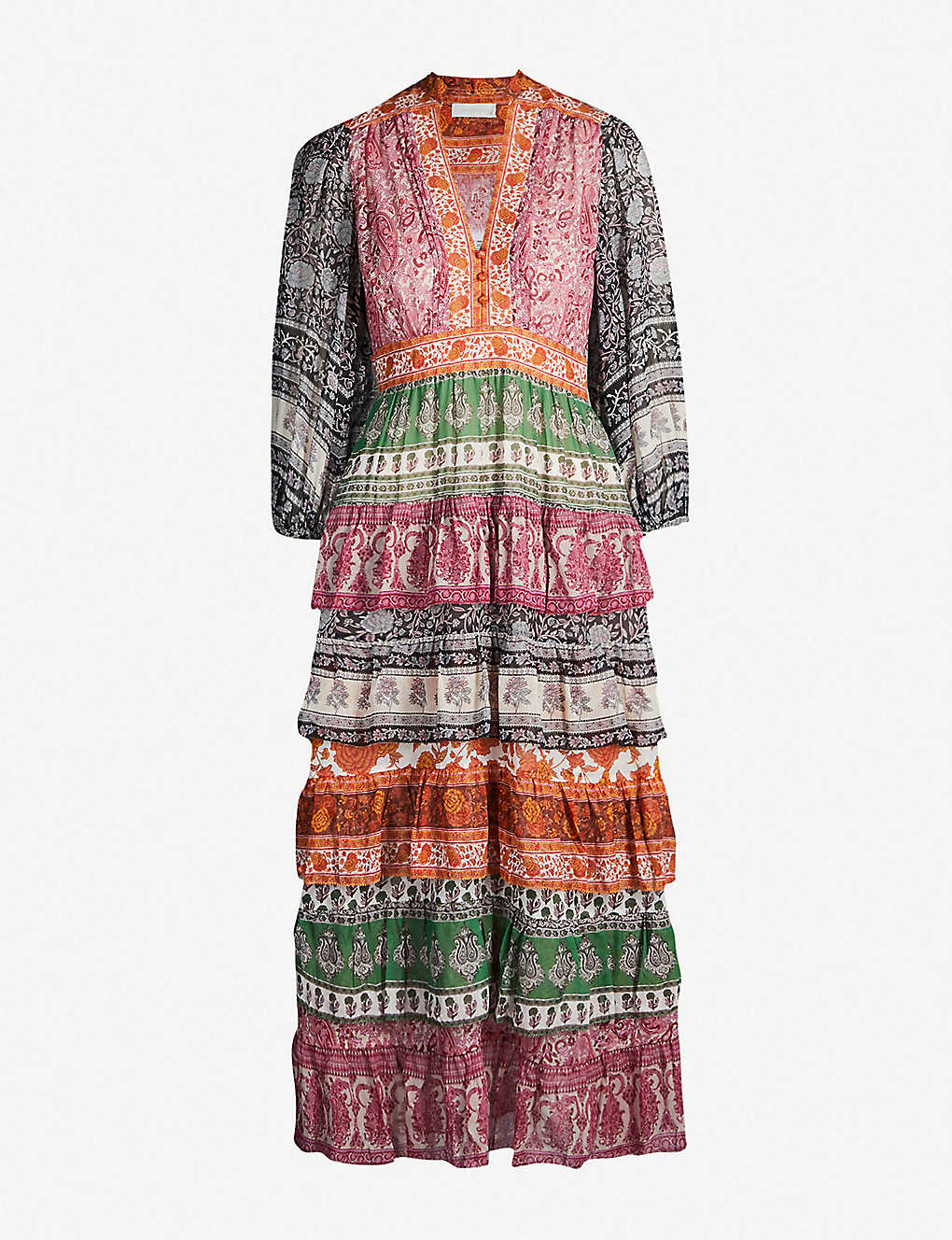 7485f4c09 ZIMMERMANN - Amari printed cotton-and-silk blend crepe dress ...