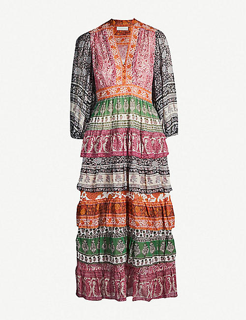 ZIMMERMANN Amari printed cotton-and-silk blend crepe dress