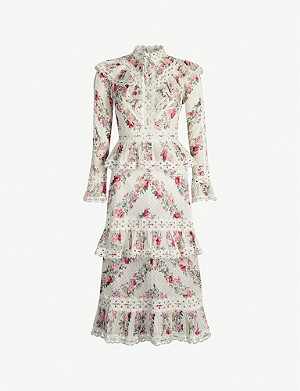 ZIMMERMANN Honour floral-patterned cotton midi dress