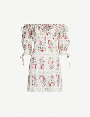 b881a88f724 ZIMMERMANN - Espionage high-neck bishop-sleeve floral-print crepe ...