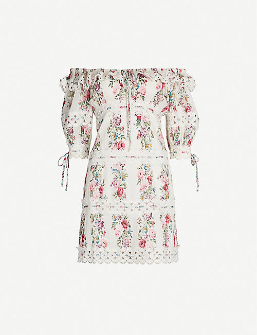 ZIMMERMANN Honour pintuck panel cotton dress