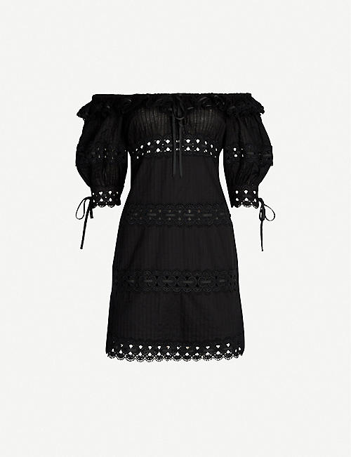 f767e61e53f ZIMMERMANN Honour pintuck panel cotton dress