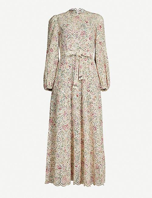 6f940cafd56 ZIMMERMANN Honour floral-print cotton-guipure midi dress