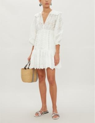Honour Ruffled Cotton Dress by Zimmermann
