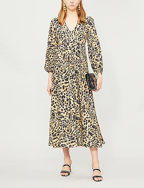 ZIMMERMANN Veneto leopard-print linen dress