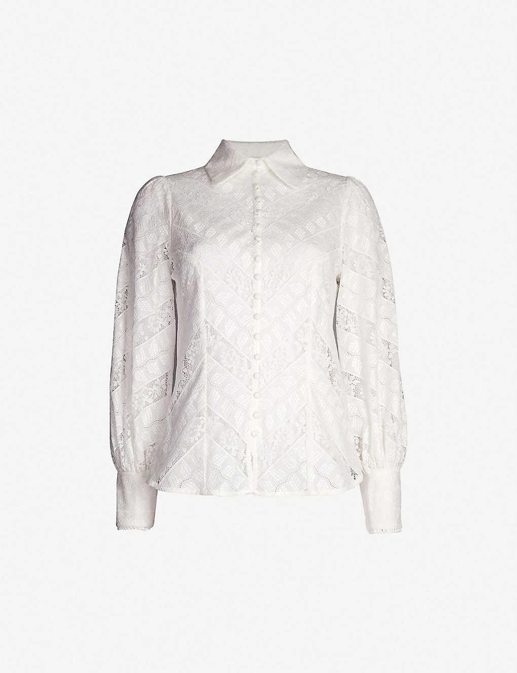 Ruffled Lace Shirt