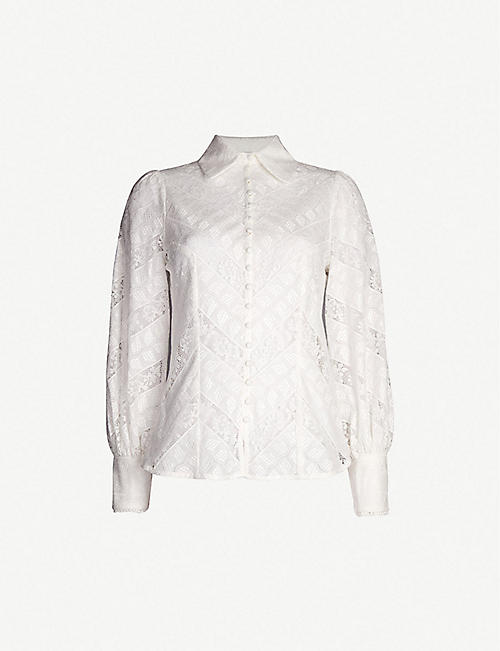 ZIMMERMANN Veneto ruffled lace shirt