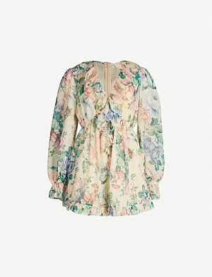 ZIMMERMANN Honour Floating cotton and silk-blend playsuit