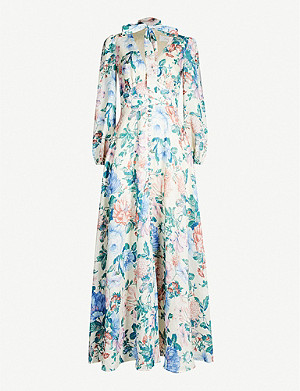 ZIMMERMANN Verity floral-print linen dress