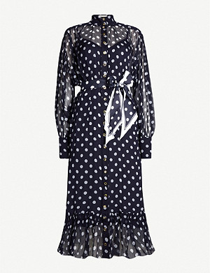 ZIMMERMANN Sabotage polka-dot silk midi dress