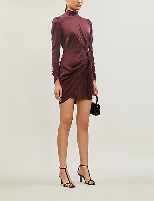 ZIMMERMANN Espionage draped stretch-silk mini dress