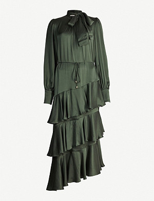 ZIMMERMANN Espionage tiered silk midi dress