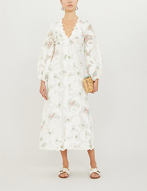 ZIMMERMANN Zinnia floral-print woven midi dress