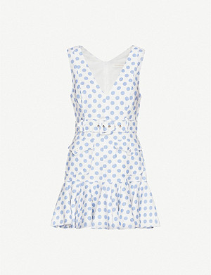 ZIMMERMANN Super Eight polka-print linen dress