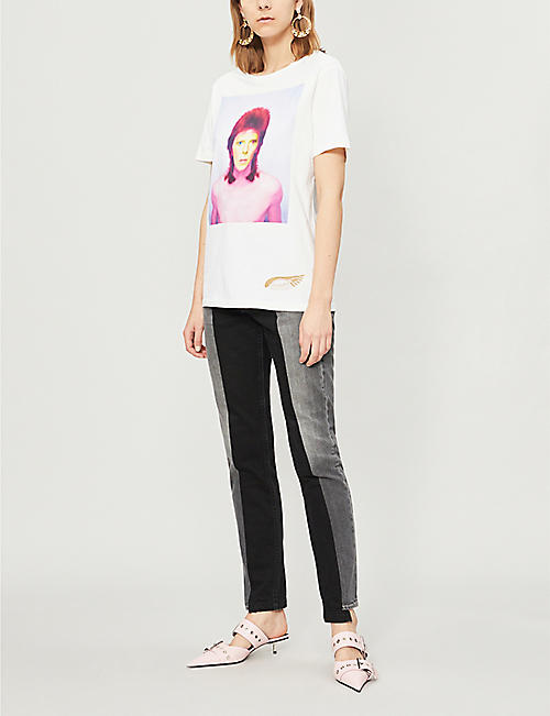 PAT MCGRATH LABS David Bowie-print cotton-jersey T-shirt