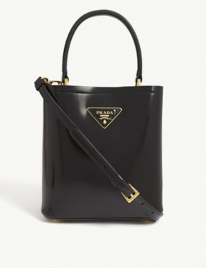 PRADA Spazzolato leather basket tote