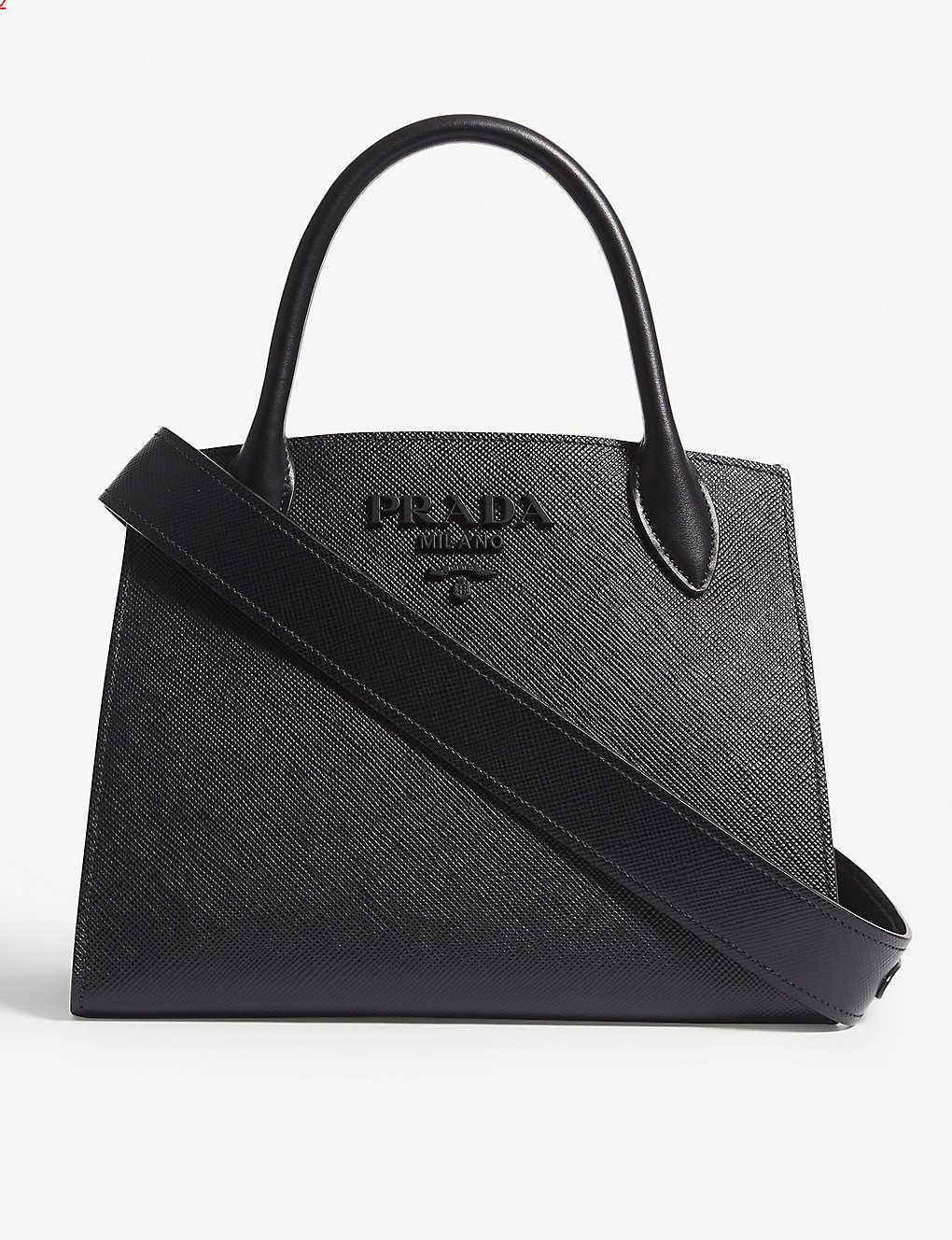 a40b75e74177a7 PRADA - Monochrome Saffiano leather tote | Selfridges.com