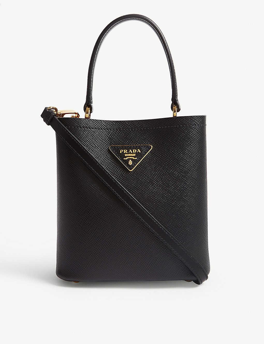 17899ef49b7b PRADA - Mini leather bucket bag | Selfridges.com