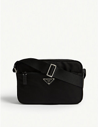 PRADA: Triangle logo nylon camera bag