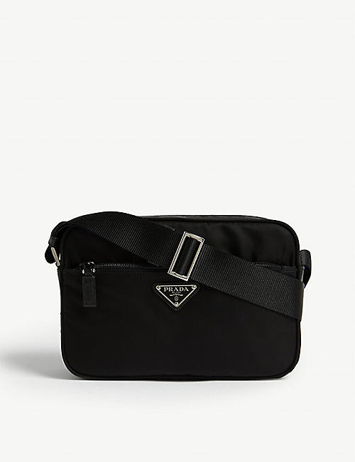 PRADA Triangle logo nylon camera bag