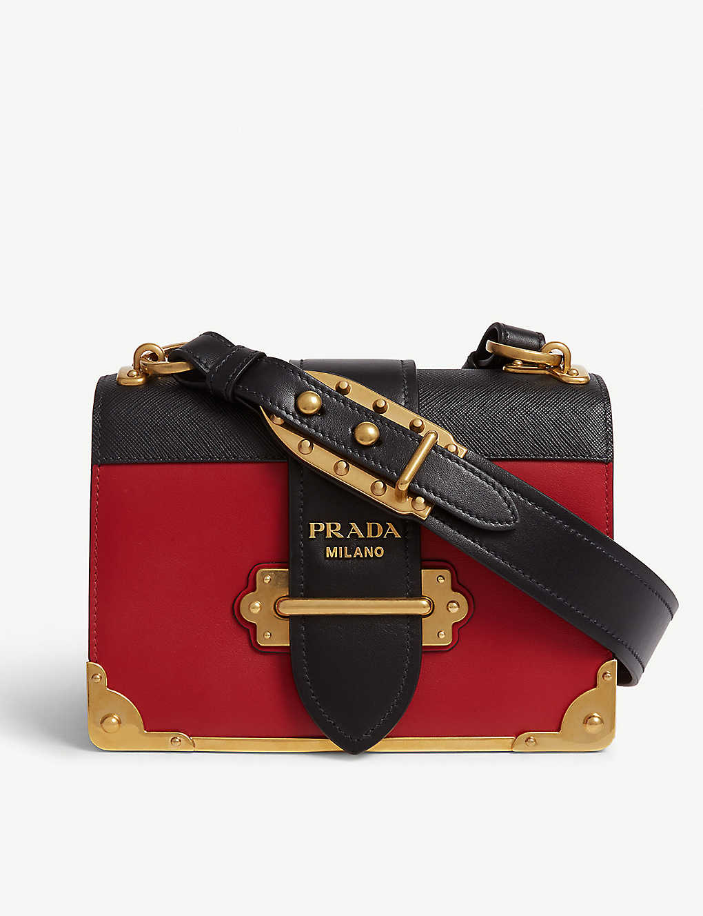17d290a08deb PRADA - Cahier leather shoulder bag | Selfridges.com