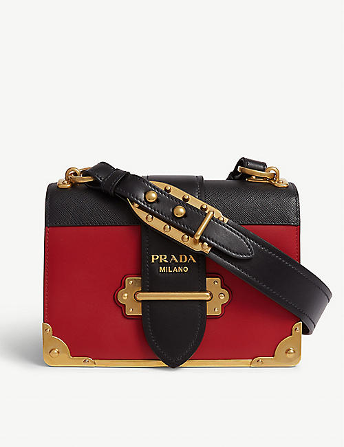 91ffbf3950ce PRADA Cahier leather shoulder bag