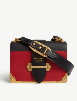 PRADA Cahier leather shoulder bag