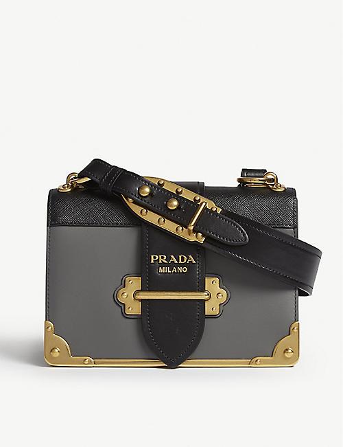 9a13e82c6a7f PRADA - Cahier leather shoulder bag