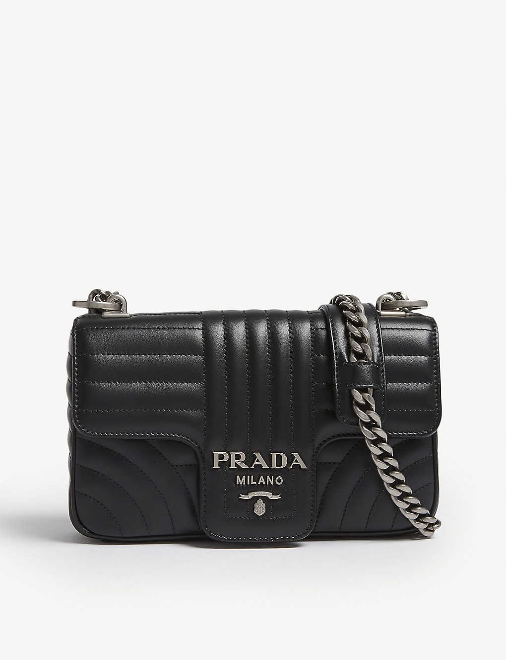 23b9a620f849 PRADA - Diagramme small quilted leather shoulder bag | Selfridges.com