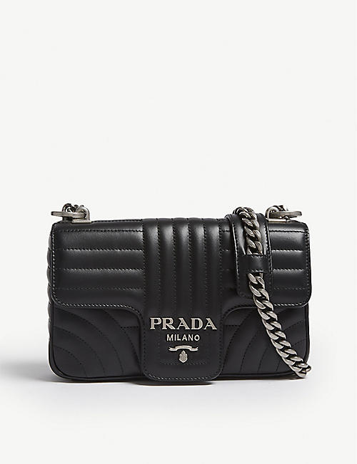 PRADA Diagramme small quilted leather shoulder bag 65cb04ec10