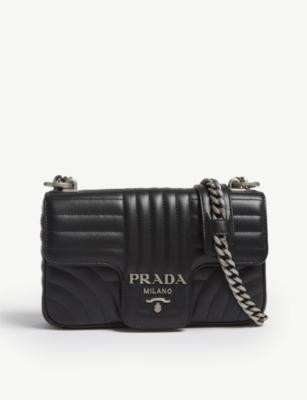 419de9833f7d PRADA - Diagramme small quilted leather shoulder bag | Selfridges.com
