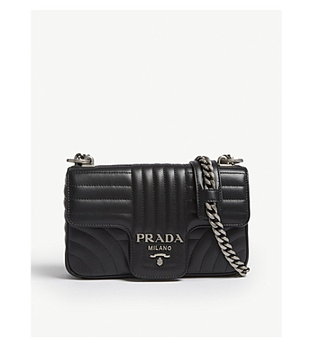 d5c118a5bff9 ... shopping prada diagramme small quilted leather shoulder bag grey.  previousnext 715f1 2e3a7