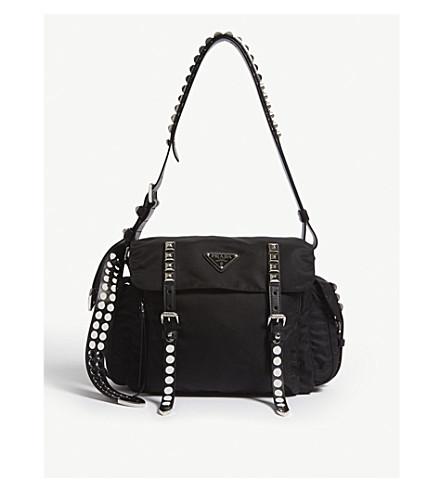 c3665bbe2c62 PRADA Nylon messenger bag (Black silver