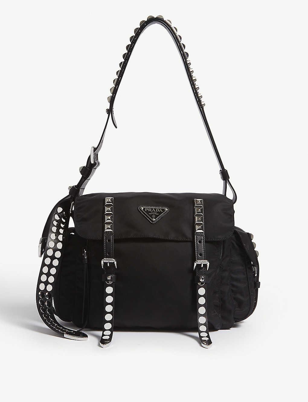 27fdb6ca775f5b PRADA - Nylon messenger bag | Selfridges.com