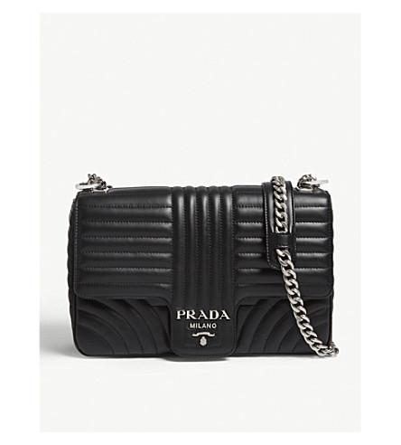 744d67f662 ... get prada medium quilted leather shoulder bag black. previousnext 8d925  485f8 ...