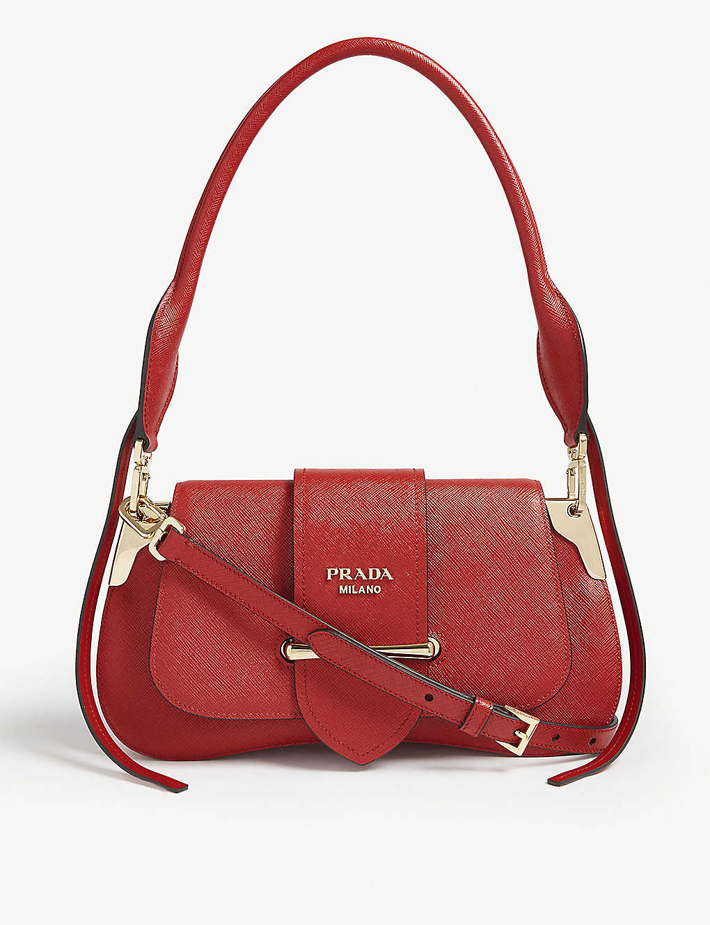 fae2a806a3e9 PRADA - Sidney saddle bag | Selfridges.com